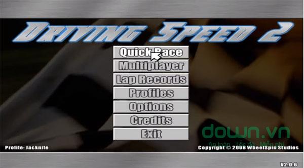 Driving Speed với nhiều chế độ chơi cho các game thủ