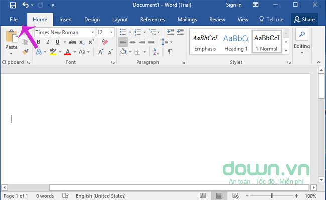 Click menu File