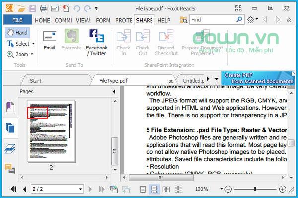 Foxit Reader cho máy tính