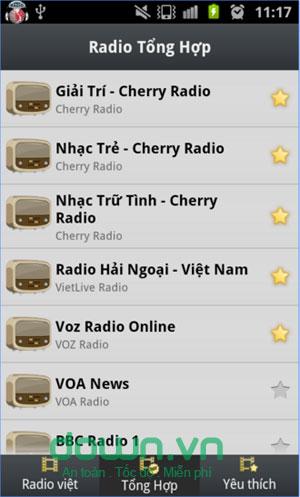 Nghe radio trực tuyến trên Android