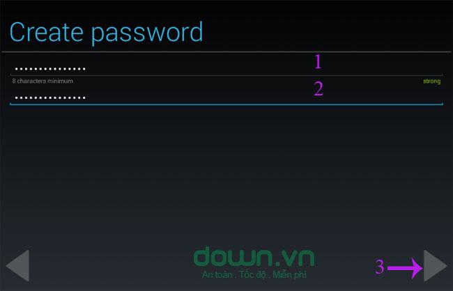 Khởi tạo mật khẩu