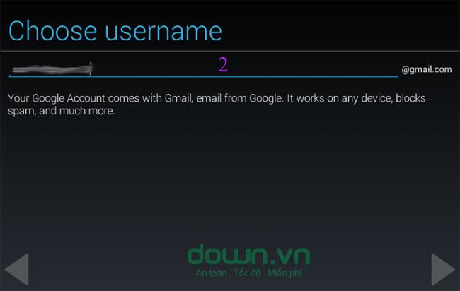 Chọn tên hòm thư Gmail