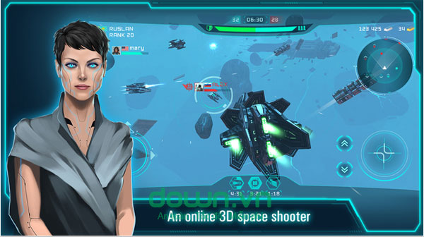 Space Jet 3D cho iOS