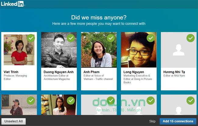 Giao diện chính của LinkedIN