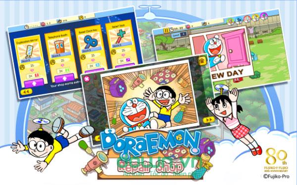 Game tiệm sửa đồ Doremon