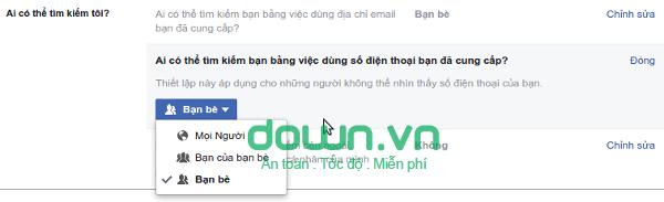 Chặn người lạ tìm thấy Facebook của mình