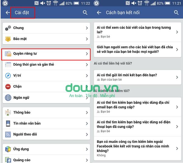 Cách chặn người lạ tìm trên Facebook