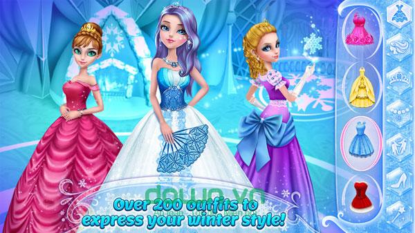 Game trang điểm công chúa băng giá