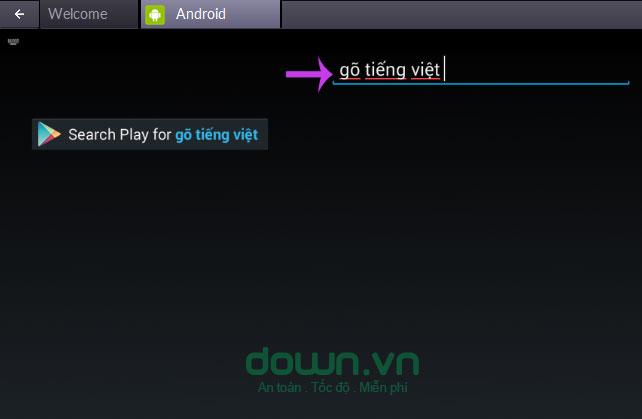 Gõ thử tiếng Việt lên khung tìm kiếm