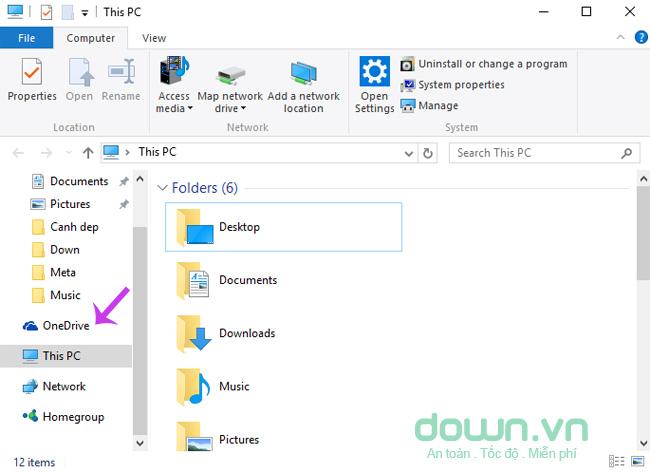 Xóa OneDrive ra khỏi File Explorer