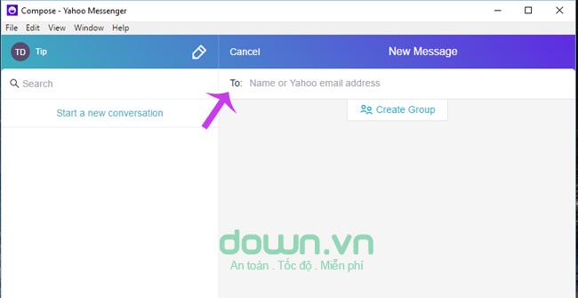 Điền địa chỉ Yahoo Messenger