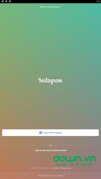 Giao diện Instagram trên PC