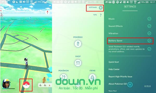 Cách tiết kiệm pin khi chơi Pokemon Go