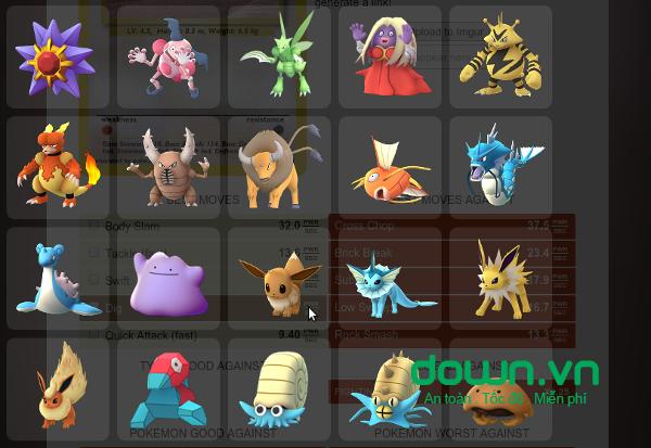 Kiểm tra chỉ số IVs của từng loại Pokemon