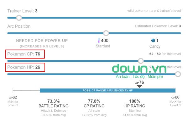 Hướng dẫn kiểm tra chỉ số của Pokemon GO