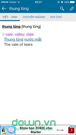 Từ điển TFLAT for iOS