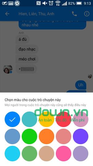 Cài đặt nhóm chat Facebook
