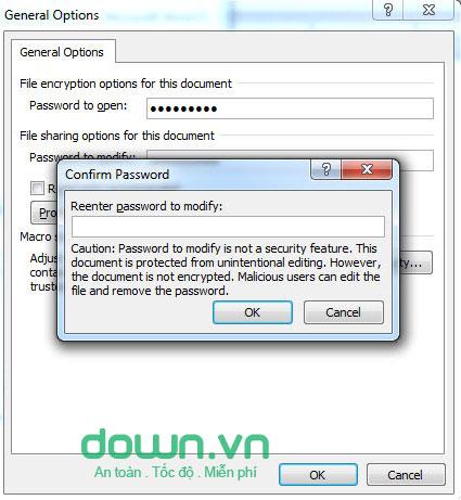 cài mật khẩu cho tệp tin word