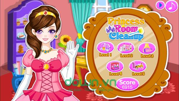 Game dọn phòng công chúa