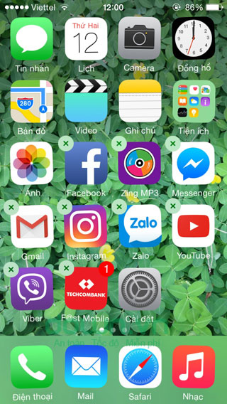 Cách gỡ bỏ ứng dụng trên iOS