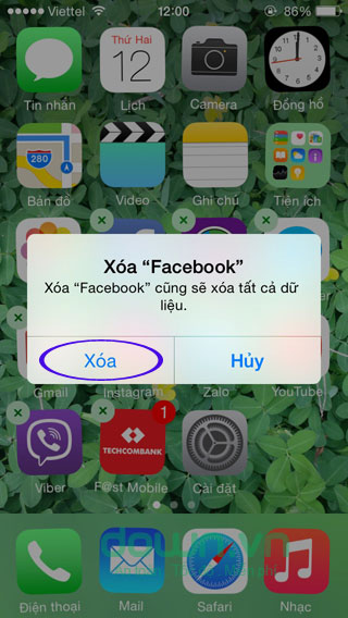 Xóa ứng dụng trên iOS