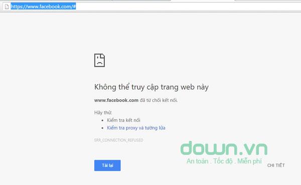Không vào được Website