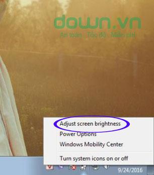Truy cập Adjust screen brightness