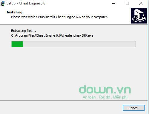 Cài đặt phần mềm Cheat Engine