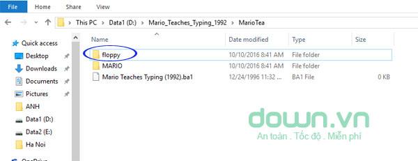 Các thư mục có trong file giải nén phần mềm luyện gõ máy tính