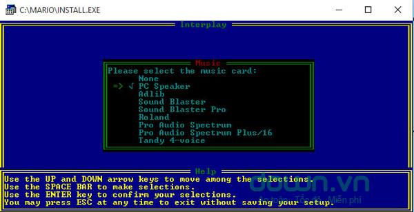 Âm thanh xuất hiện trong phần mềm