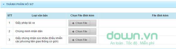 Chọn file ảnh của các giấy tờ liên quan