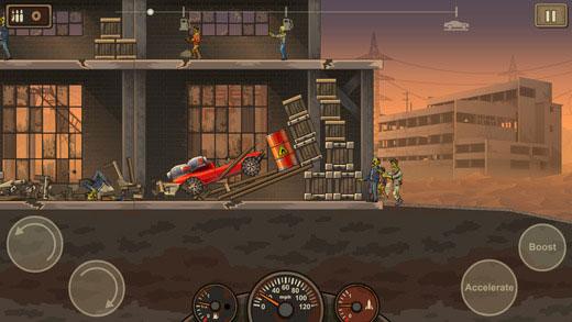 Game đua xe diệt zombie
