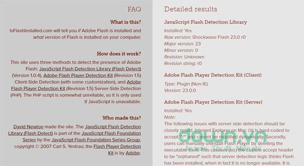 Thông tin về Adobe flash player