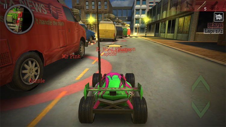 Game hành động kết hợp đua xe
