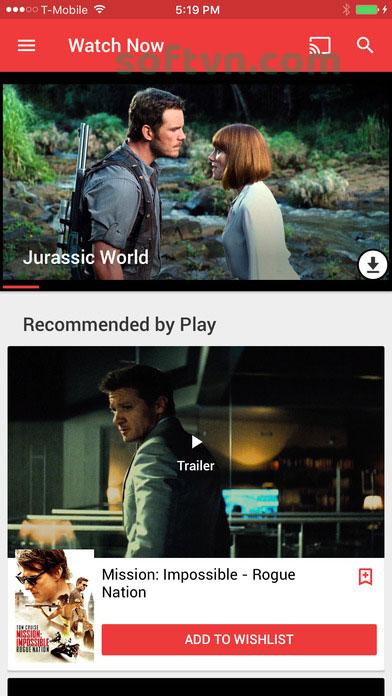 Giao diện xem phim