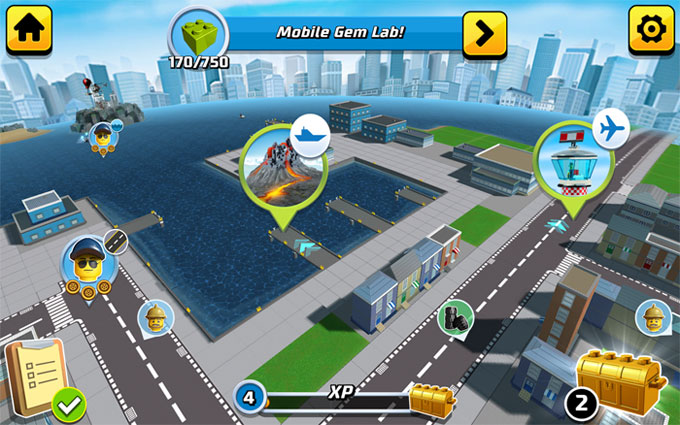 Game xây dựng thành phố lego