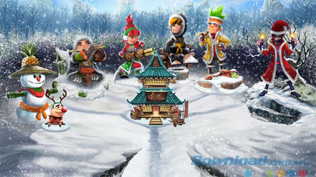 Game chém hoa quả mùa Giáng Sinh