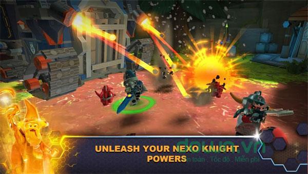 Nâng cấp phương tiện trong game LEGO Nexo Knights: Merlok 2.0