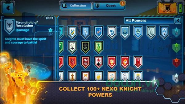 Hiệu ứng ánh sáng trong game LEGO Nexo Knights: Merlok 2.0