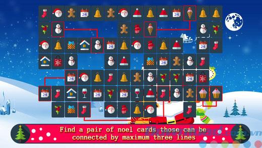 Game nối hình trí tuệ Pikachu Noel