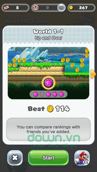 Bắt đầu chơi game Super Mario Run
