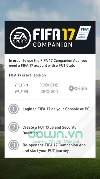 Yêu cầu tài khoản FIFA  17