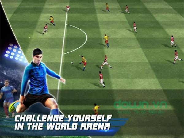 Thử sức trong những giải đấu online của Real Football Mobile