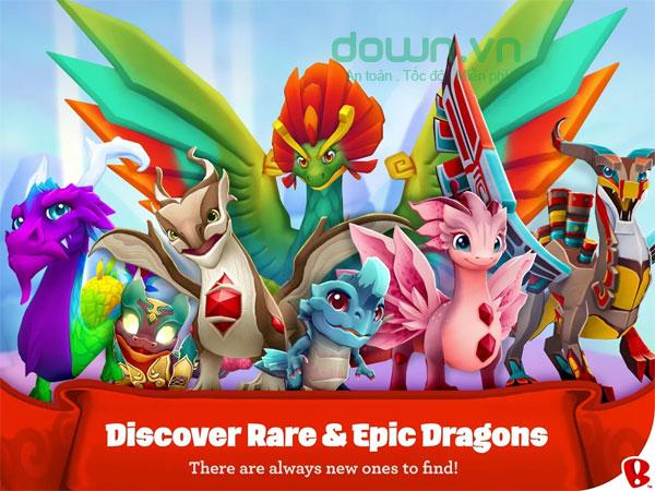 Khám phá những loài rồng tuyệt đẹp ở thiên đường DragonVale World