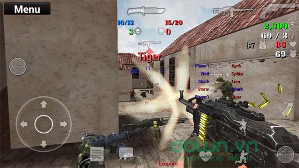 Giao diện game bắn súng