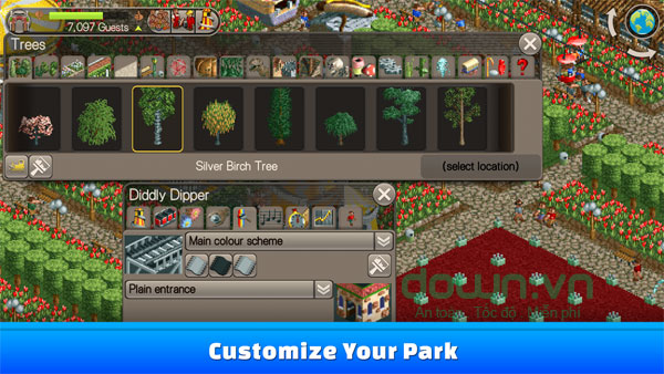 Tham gia quản lý công viên để thử tài chi tiêu và xây dựng kế hoạch của mình