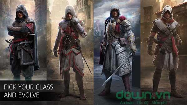 Assassin có nhiều khả năng như bật nhảy, leo tường...