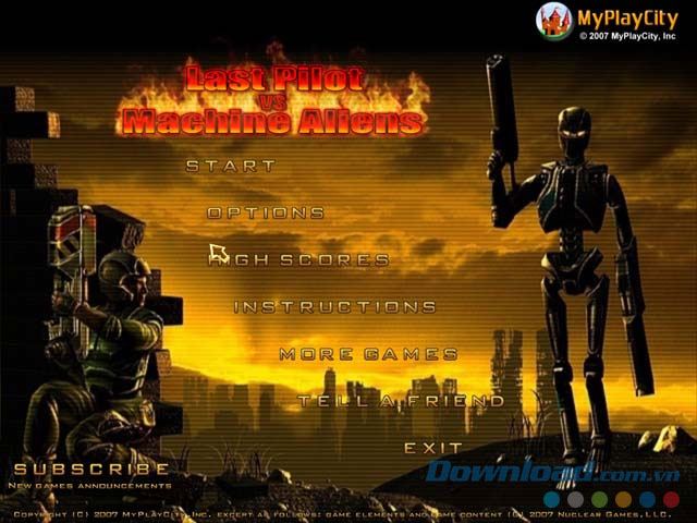 Game bắn súng Last Pilot vs Machine Aliens