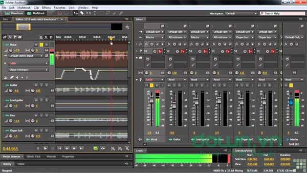 Chỉnh sửa nhạc với Adobe Audition