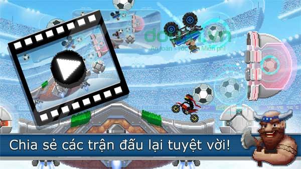 Lối chơi độc dị vừa lái xe vừa đá bóng trong game Drive Ahead! Sports